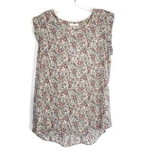 Pleione sleeveless floral top size large